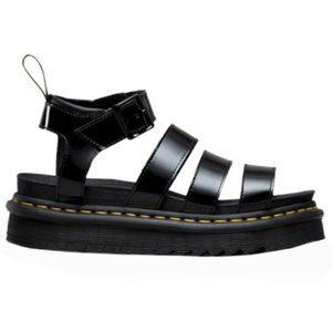 NWT DR. MARTENS GENUINE PATENT LEATHER SANDALS